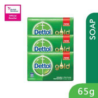 Harga Dettol Body soap 65g 3packs Gold Daily Clean-3023443