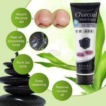 EsoGoal Charcoal Mask Cream Anti Blackhead, WHITENING Deep Cleaning Super Strength Peel Off (130ml,Pink)