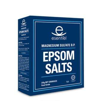 ESSENTIEL EPSOM SALTS 375G GRANULES FOOD GRADE X 2 packs