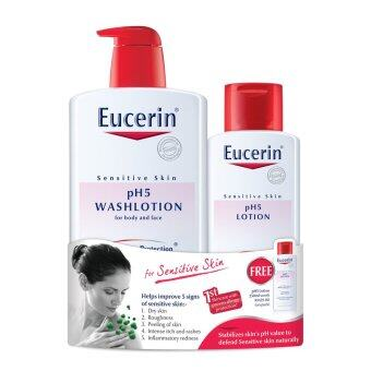 Harga EUCERIN pH5 Wash Lotion For Body And Face 1L + 250ml