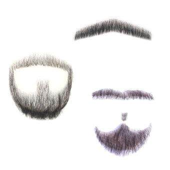 Harga Fake Beard Man Mustache Word Simulation 100% Human Hair Full HandTied for Party