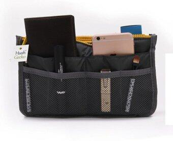 [Grey] Purse Bag Insert, Makeup Cosmetic Organize, Make up Handbag Nylon Pouch Diaper Organizer, Longchamp, LV
