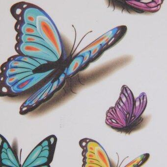 Harga Hang-Qiao Butterfly Stickers Temporary Arm Waterproof Tattoos Fake3D Tatoo Body Art (Intl)