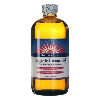 Heritage Store Organic Castor Oil Hair Growth 480ml