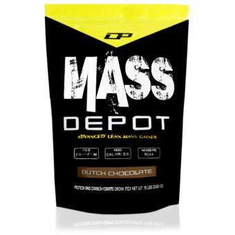High Protein Mass Gainer - Mass Depot 15lb/6.8kg, 173g Protein From Whey Depot (Dutch Chocolate)