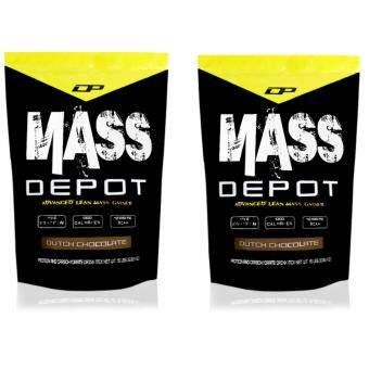 High Protein Mass Gainer - Mass Depot 15lb/6.8kg, 173g Protein FromWhey Depot (Dutch Chocolate) x 2 Packets[Bundle]