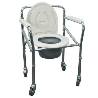 Harga Hopkin Foldable Commode Wheelchair Steel