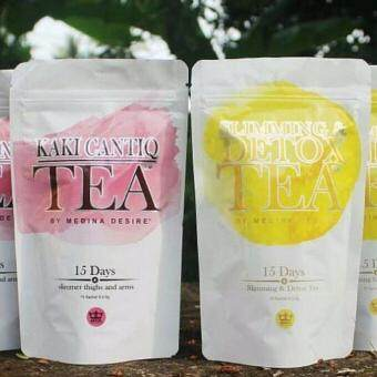 HOT COMBO Set SLIMMING & DETOX Tea + KAKI CANTIQ Tea by MEDINA DESIRE