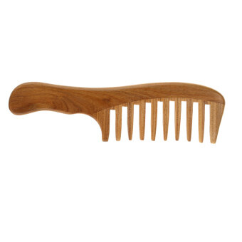 Harga 1 Pc Wooden Comb Natural Green Sandalwood Handmade Wide Tooth Wooden Comb Massage Comb Handmade Comb Hair Care
