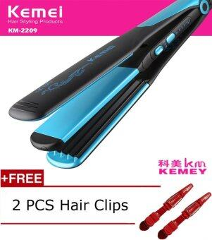 Harga Kemei Fashion New 110-240V Hair Straightener Professional 2 In 1 Ionic Straightening Iron & Curler Styling Tool Curling Irons