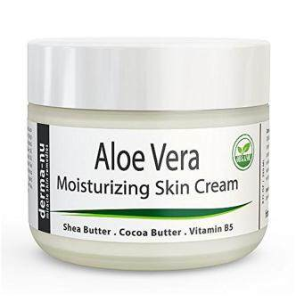 Harga Aloe Vera Dry Skin Cream - Best Remedy Skin Repair Cream by Derma-nu - Organic Treatment for Face & Body - Treatment for Psoriasis and Eczema Therapy - Non-greasy and Fast Absorbing - 8oz