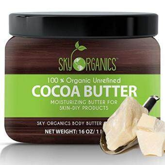 Harga Organic Cocoa Butter By Sky Organics: Unrefined, 100% Pure Raw Cocoa Butter 16oz - Skin Nourishing, Moisturizing & Healing, for Dry Skin, Stretch Marks - For Skin Care, Hair Care & DIY Recipes
