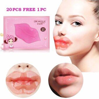 Harga (20PCS FREE 1PC) BIOAQUA Collagen Lip Mask Moisturizing Lip