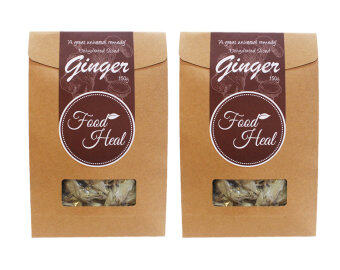 Harga FoodHeal Natural Dehydrated Dried Ginger Slices Twin Pack (300g)