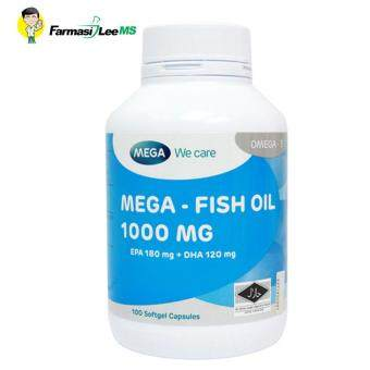 Harga Mega Fish Oil 1000mg 100s