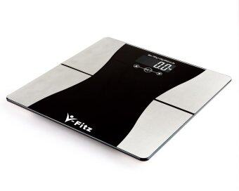 Harga V-Fitz BMI Electronic Body Fat Scale Ultra Slim LCD Weighing Scale (Black)