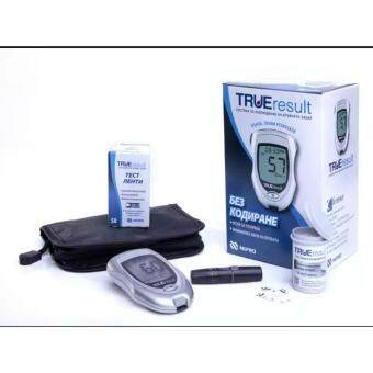 Harga Nipro True Result (Lifetime warranty) Blood Glucose Meter Monitor Glucometer With 50 strips