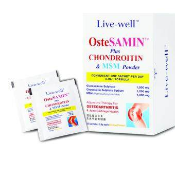 Harga Live-well OsteSAMIN Plus CHONDROITIN & MSM Powder