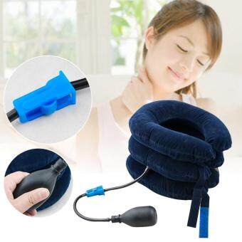 Harga Vinmax Inflatable Cervical Neck Head Traction Neck Back Stretcher Pain Relief Collar (Blue)