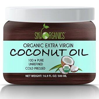 Harga Organic Extra Virgin Coconut Oil by Sky Organics 16.9 oz- USDA Organic Coconut Oil, Cold-Pressed, Kosher, Cruelty-Free, Fairtrade, Unrefined- Ideal as a Skin Moisturizer, Hair Treatment & Baking