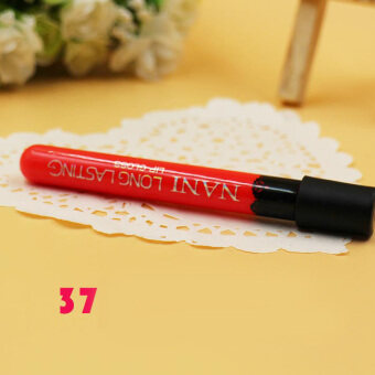 Harga Women Lipstick Lip Color Waterproof Lip Pencil Lip Gloss Lip Pen 37#-