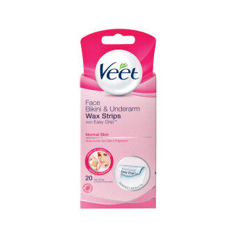 Harga VEET Face Wax Strip Normal 20's