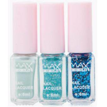 Harga MAXDONA Professional 3-LAYER Gradient Water Based Peel-Off Nail Polish - Code 04 Blue