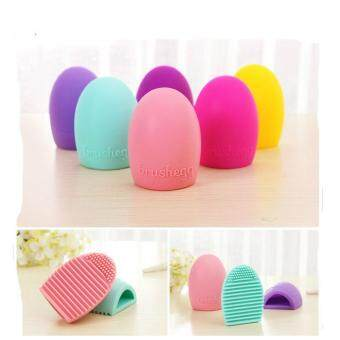 Harga Silicone Makeup Brush Cleaner Cleaning Egg Brush Scourer Squeegee Cosmetic Brush Cleanser Make up Brush Cleaner Clean tools