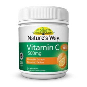 Harga Nature's Way Vitamin C 500mg Chewable Orange tablets 200's