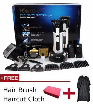 Harga Kemei Electric Rechargeable Hair Styling Men Baby Clipper Hair Trimmer Beard Professional Rechargeable Electric Cutter Hair Cutting Machine Haircut