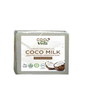 Harga COCO VEDA VIRGIN COCONUT OIL BODY SOAPS 120GM - COCO MILK