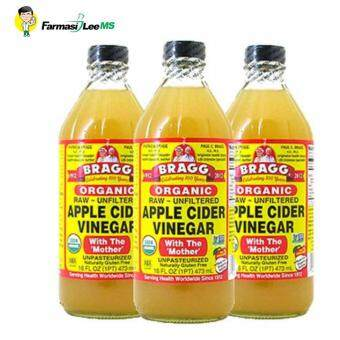 Harga Bragg Organic Apple Cider Vinegar 946ml - 3 bottles