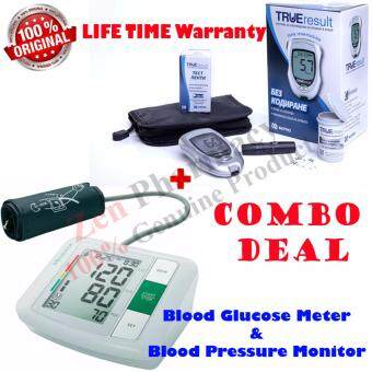 Harga True Result Blood Glucose Monitor Set With 10strips+Medisana Blood Pressure Monitor BU 510