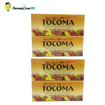 Harga TOCOMA 7sachets x10g (Mixed fruits and vegetable powder with lemon flavour) - 4 boxes