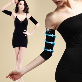 Harga Thin Arms Forearms Hands Shaper Burn Fat Belt Compression Arm Slimming Warmer 420 D (Black)