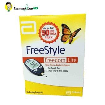 Harga Abbott FreeStyle Freedom Lite Blood Glucose Monitoring System with 50 strips (LIFETIME WARRANTY)