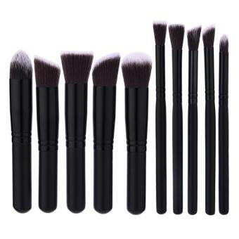 Harga High Quality 10Pcs / Set Makeup Brush Black Hair Blush Brush Eye-shadow Brush Beauty Makeup Tools