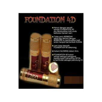 Harga (Original) DMS 360 4D FOUNDATION by DERMAX SUPERSKIN 30ML + FREE GIFT