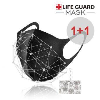 Harga [3D MASK 1+1] Life Guard Mask 1+1 / haze/ SMOG_black color