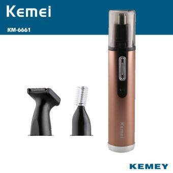 Harga Kemei Electric 3 In 1 Rechargeable Nose Ears Hairs Trimmer Sideburns Temple Razor Eyebrows Hairs Cutter for Men Boy Care
