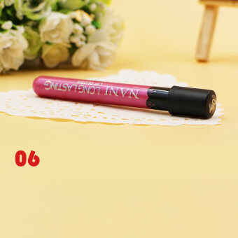 Harga Women Lipstick Lip Color Waterproof Lip Pencil Lip Gloss Lip Pen (6#)-