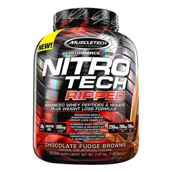 Harga MuscleTech Nitro Tech Ripped, Chocolate Fudge Brownie, 4lbs
