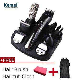 Harga Kemei Professional 6 in 1 hair trimmer titanium hair clipper electric shaver beard trimmer men styling tools shaving machine cutting