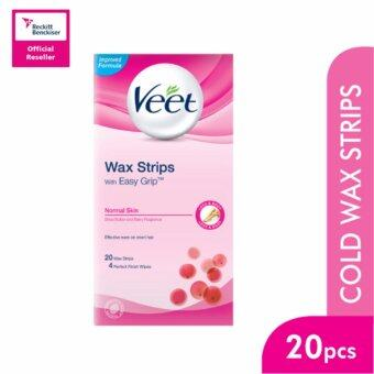 Harga Veet Wax Strip Normal Skin 20'S