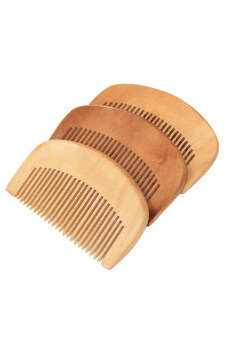Harga Bluelans Hair Health Care Natural Peach Wood Comb Close Teeth Anti-Static Head Massage