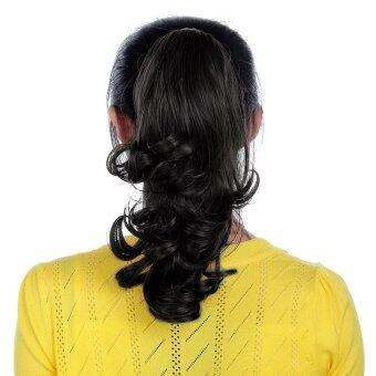 Harga Generic Wavy Curly Claw Clip on Hair Extension Ponytail (Black)