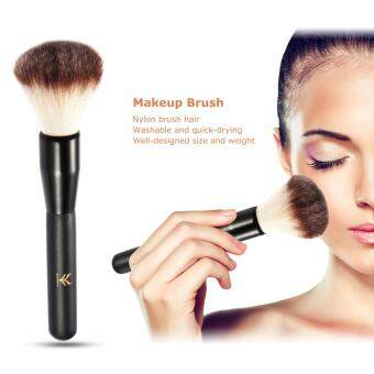 Harga HUAMIANLI Makeup Brush Cosmetic Round Brush Face Foundation Brush Contour Blush Brush Nylon Powder Brush Wood Handle Black