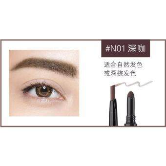 Harga MAXDONA 3 in 1 Eyebrow Pencil - Code 01 DARK BROWN