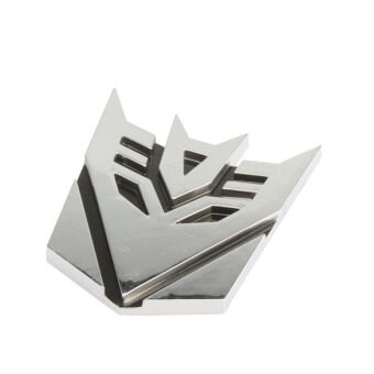 Harga Best Car Logo Decepticon Leader Transformer Car Chrome Emblem 3D Logo - Intl