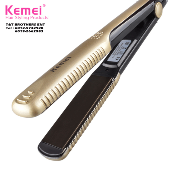 Harga Kemei New Hair Straightener Professional Hairstyling Portable Ceramic Hair Straightener Iron